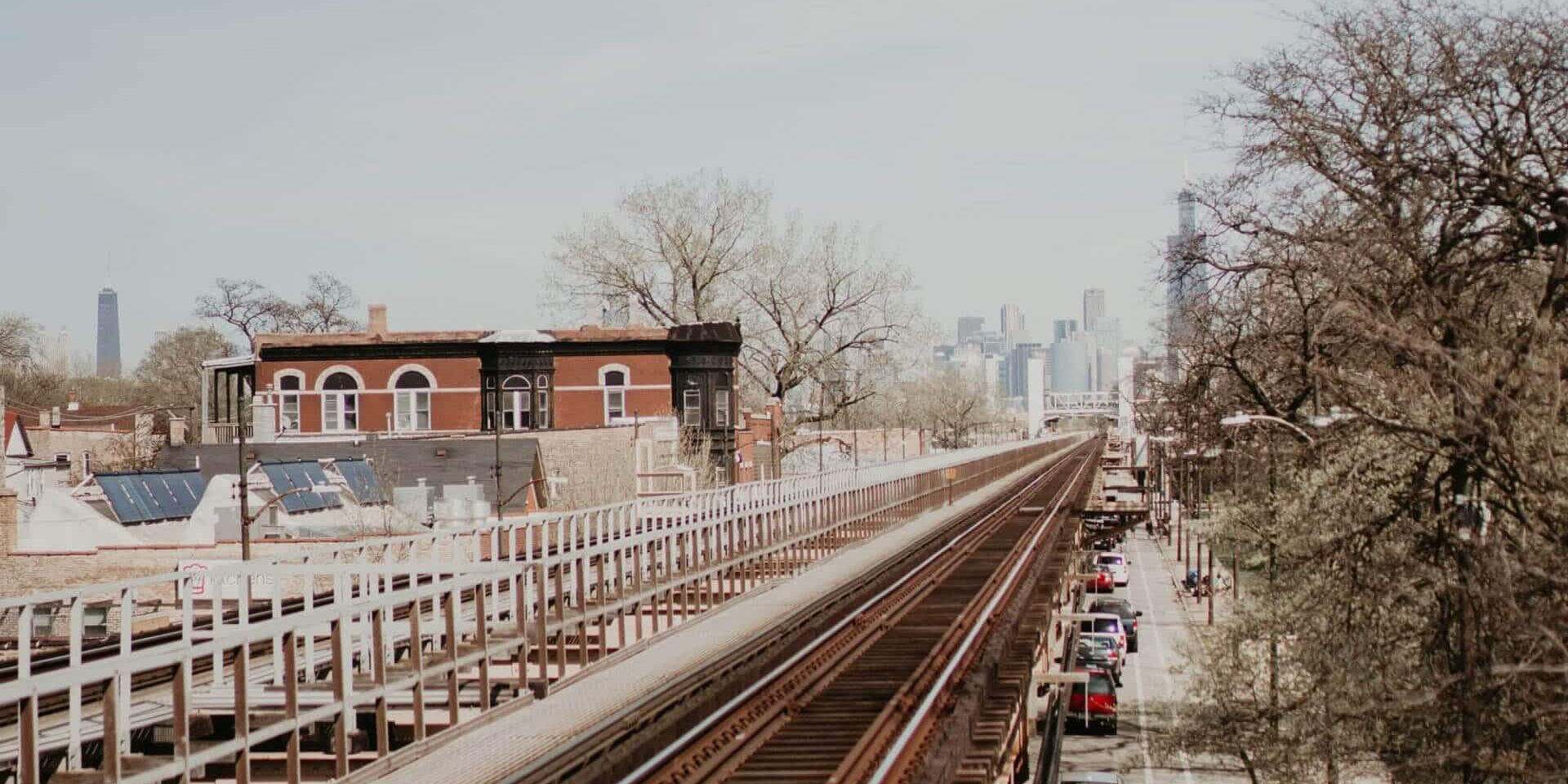 Chicago L train tracks at Garfield Park Conservatory green line stop Racial Justice