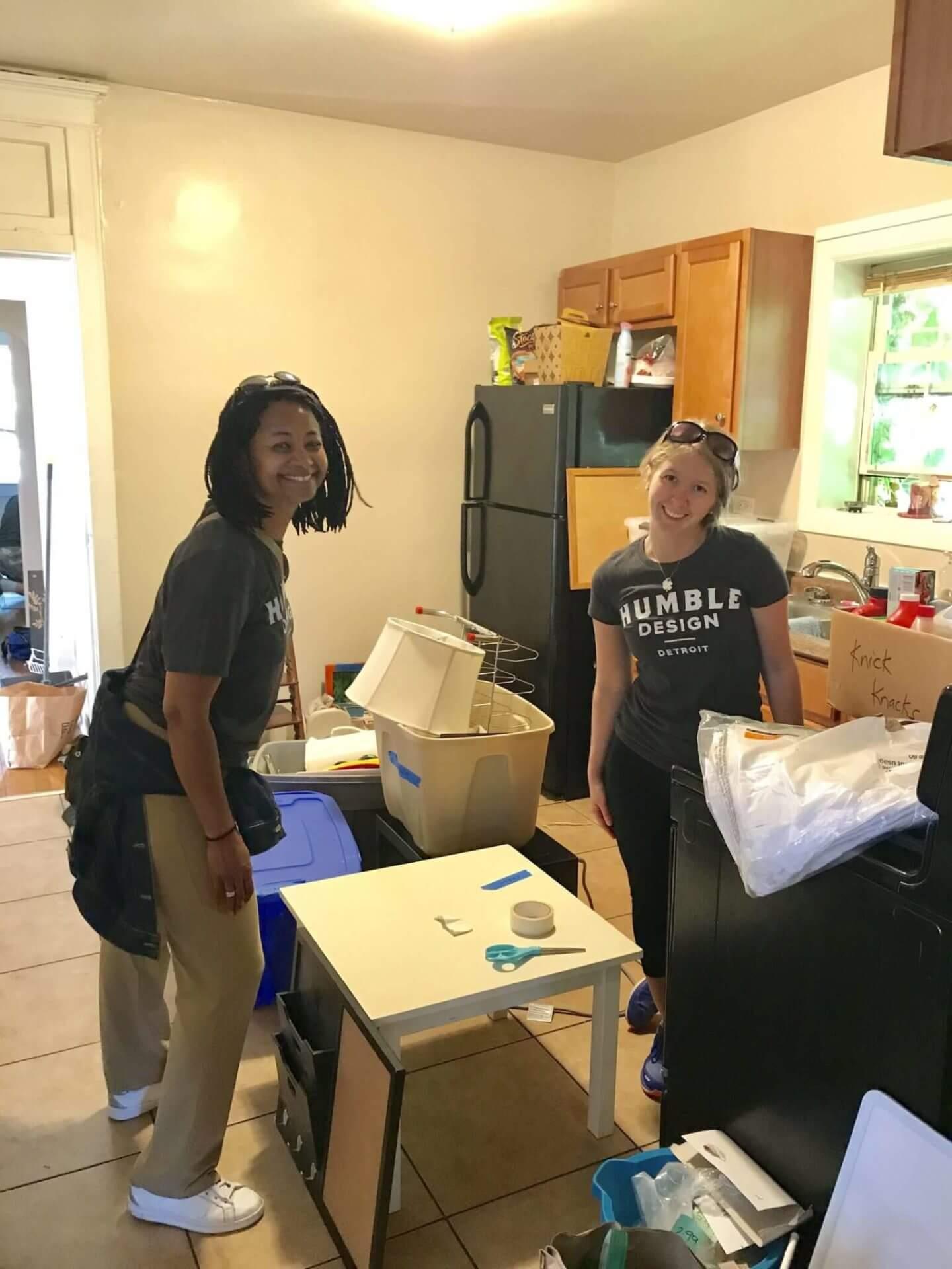 Humble Design volunteers working in kitchen