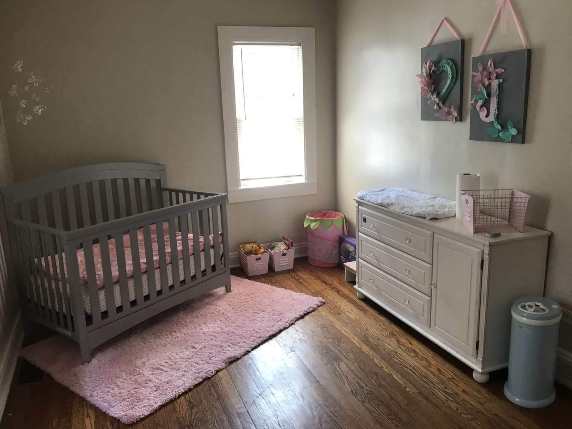 Nursery set up in new home