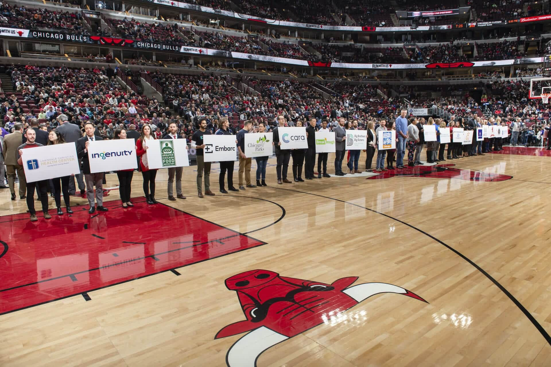 organizations honored at CBC Grant Night at Chicago Bulls game
