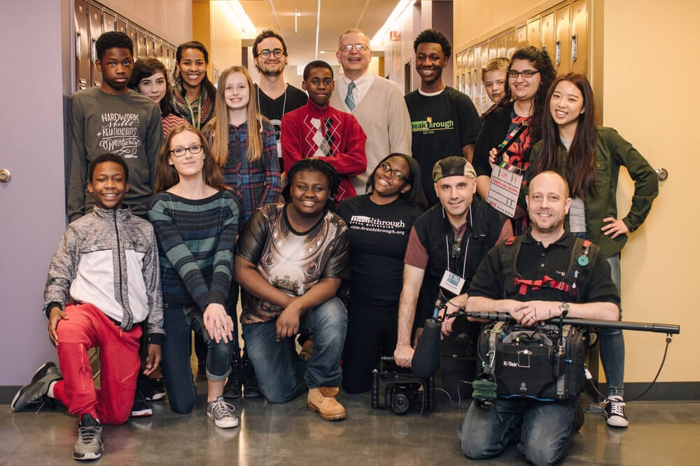 group photo of team who collaborated to produce Forty Blocks film, oral history of East Garfield Park