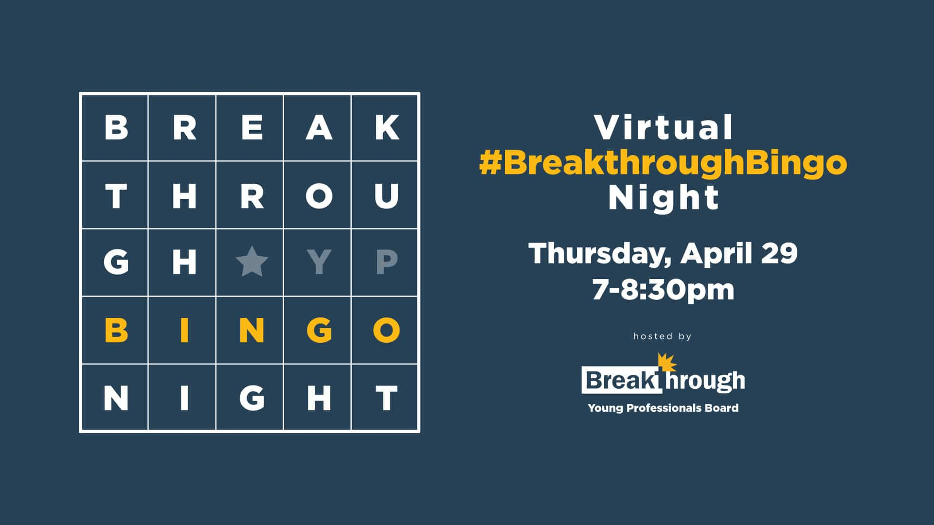Virtual #BreakthroughBingo Night 4