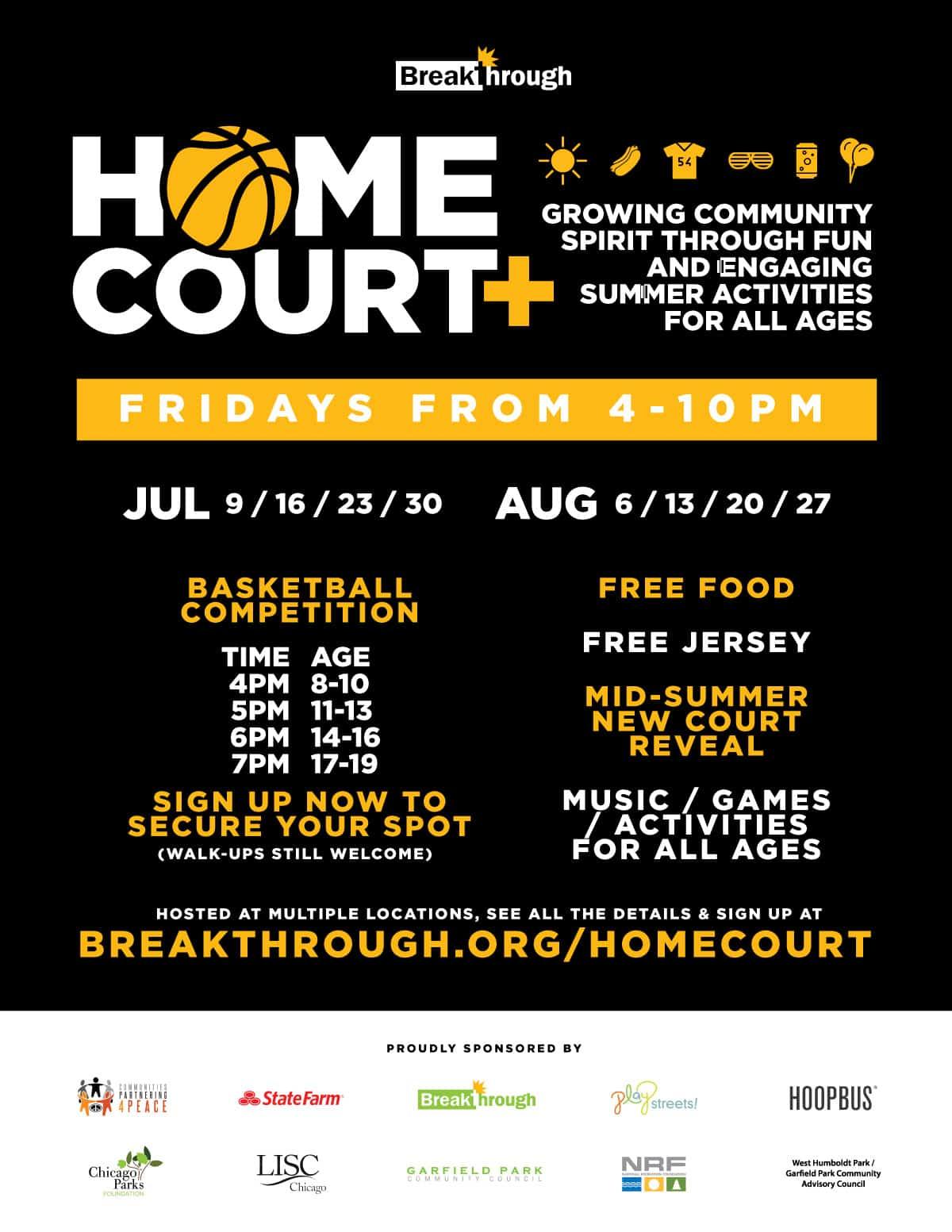 Breakthrough Homecourt 2021 basketball fun games family fun