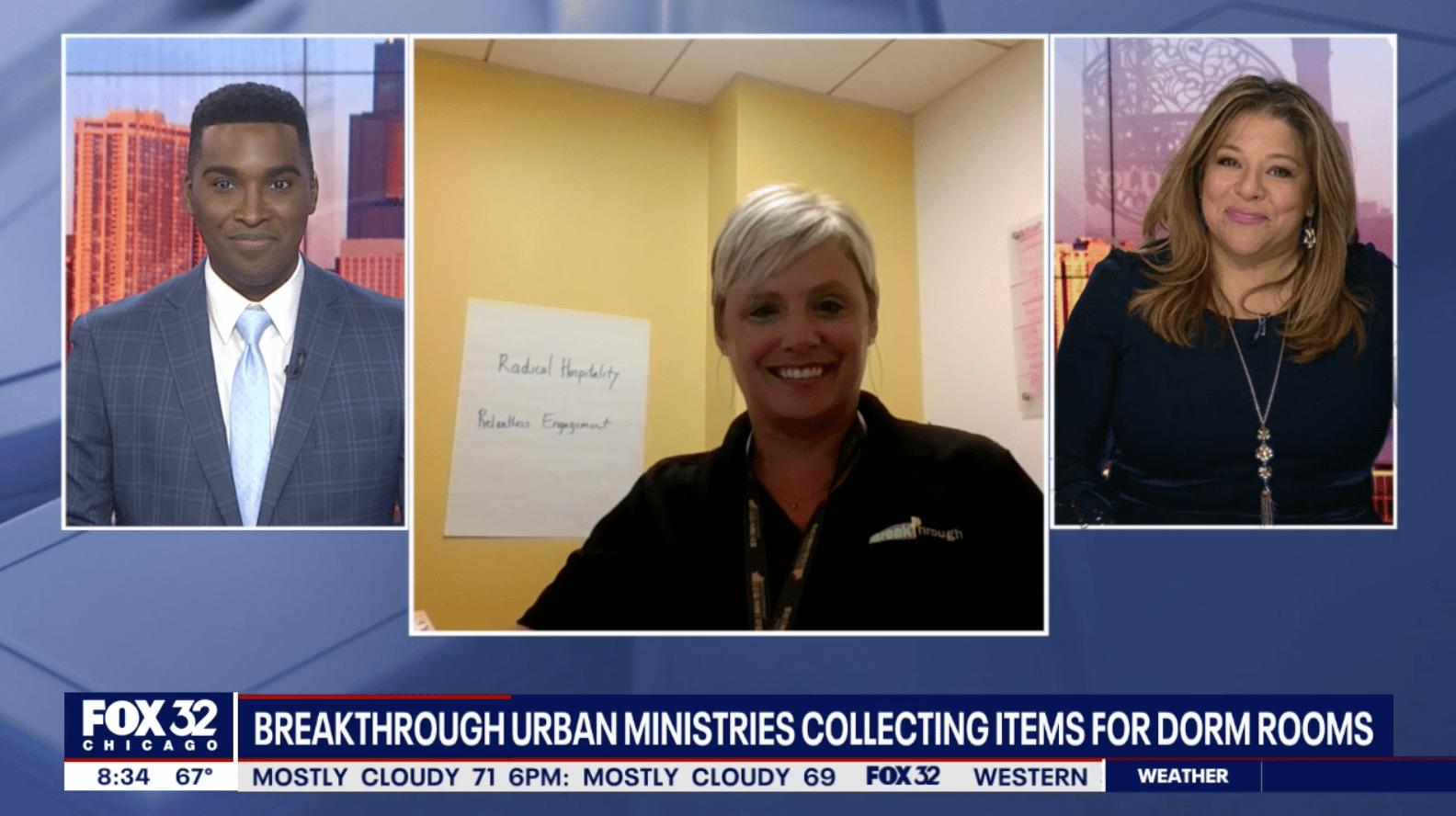 Breakthrough Urban Ministries collecting college student essentials 1